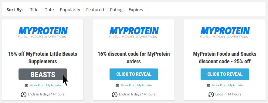 MyProtein voucher code reveal