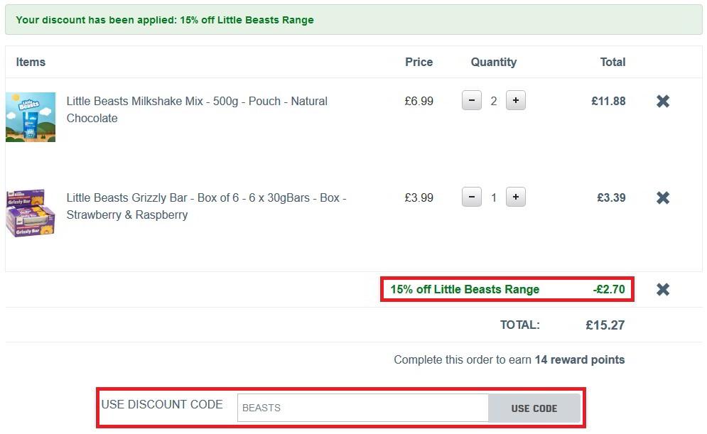 MyProtein discount code page